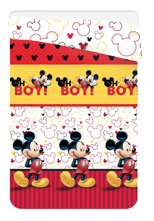 JERRY FABRICS Letní prošívaná deka Mickey polyester 180/260 cm