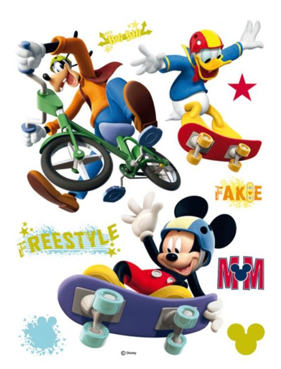 DECOFUN Maxi nálepka na zeď Mickey Mouse freestyle 65x85 cm