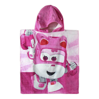Pončo Super Wings pink