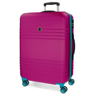 ABS Cestovní kufr Roll Road India Fuchsia 79 cm