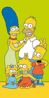 Osuška Simpsons Family green