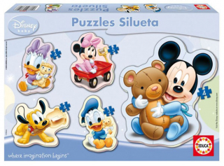 Baby puzzle Mickey Mouse 5v1