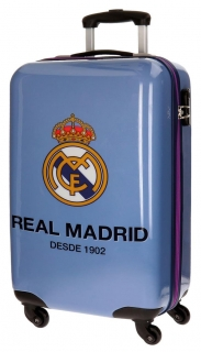Cestovní kufr ABS Real Madrid One color one club blue 55 cm