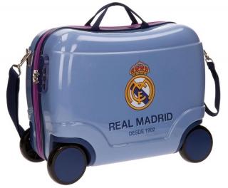 807d37b3b Dětský kufřík na kolečkách Real Madrid Futbol Time blue empty